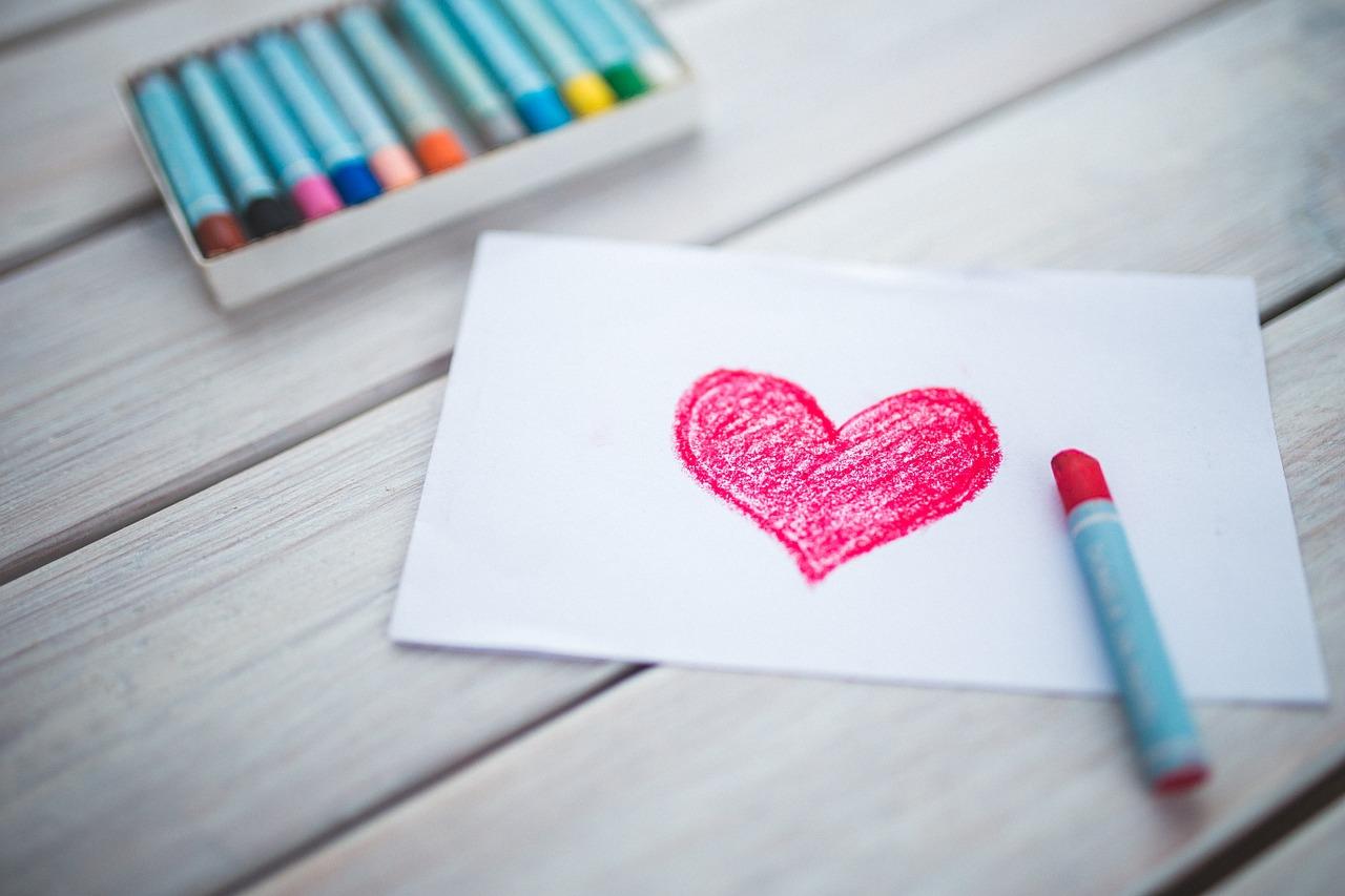 hartjes tekening op een goede dag