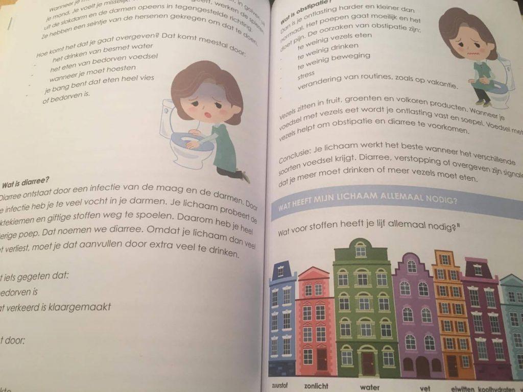 pagina uit het boek oh jee ik eet
