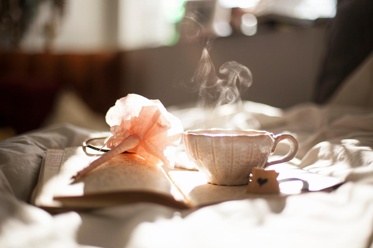 rust, kop thee en bloem
