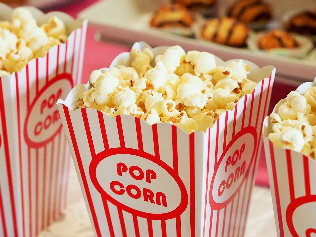 popcorn in de bioscoop