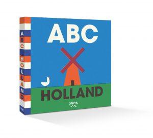 cover, boek abc holand, blauwe kaft met molen