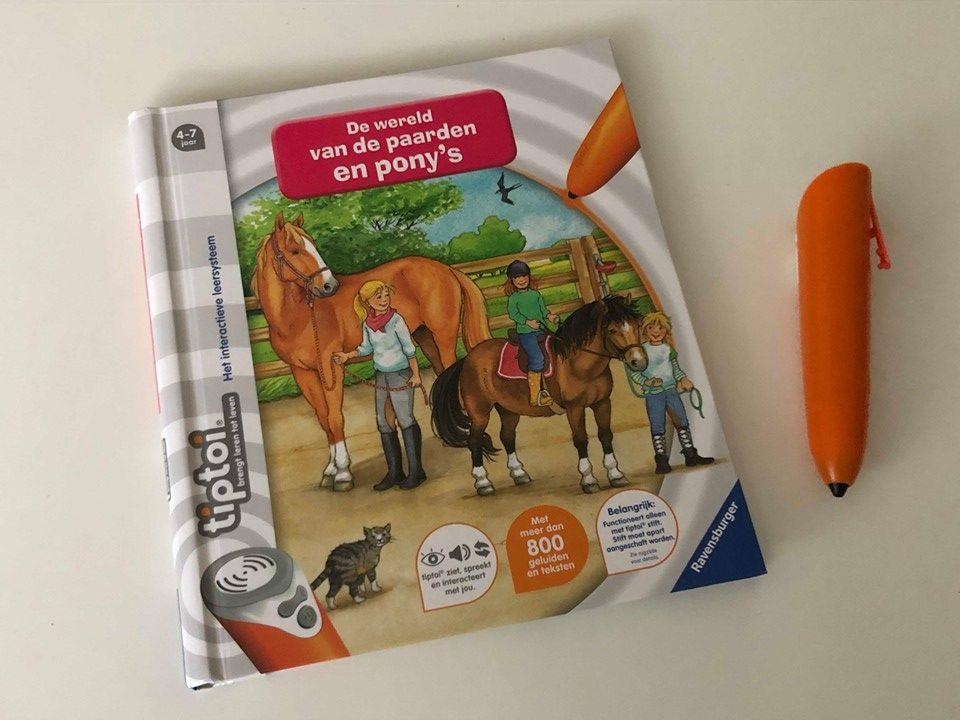 Tip Toi boek de wereld van de paarden en pony;s.